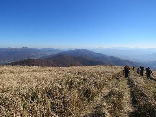 Podejście na grzbiet Wielkiej Rawki od strony granicy.