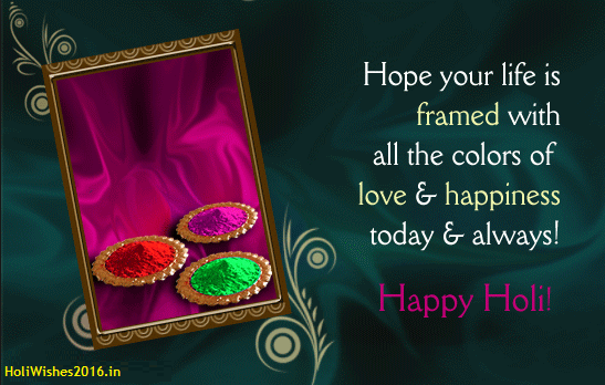 Happy holi 2016 greeting cards