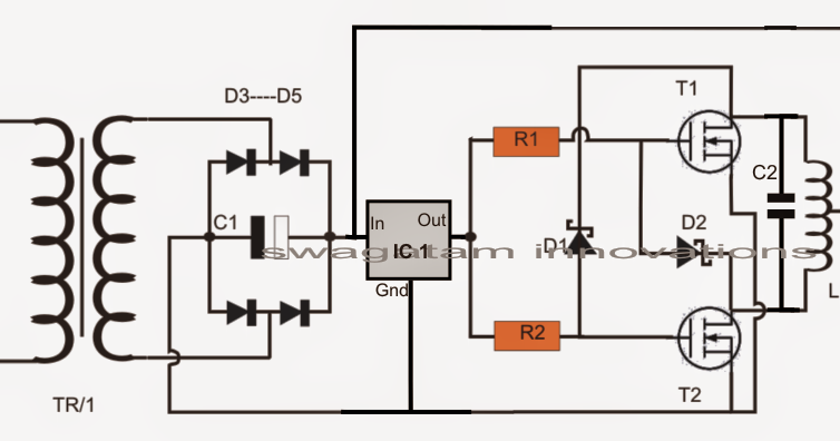 Simple Induction Heater Circuit  Hot Plate Cooker Circuit