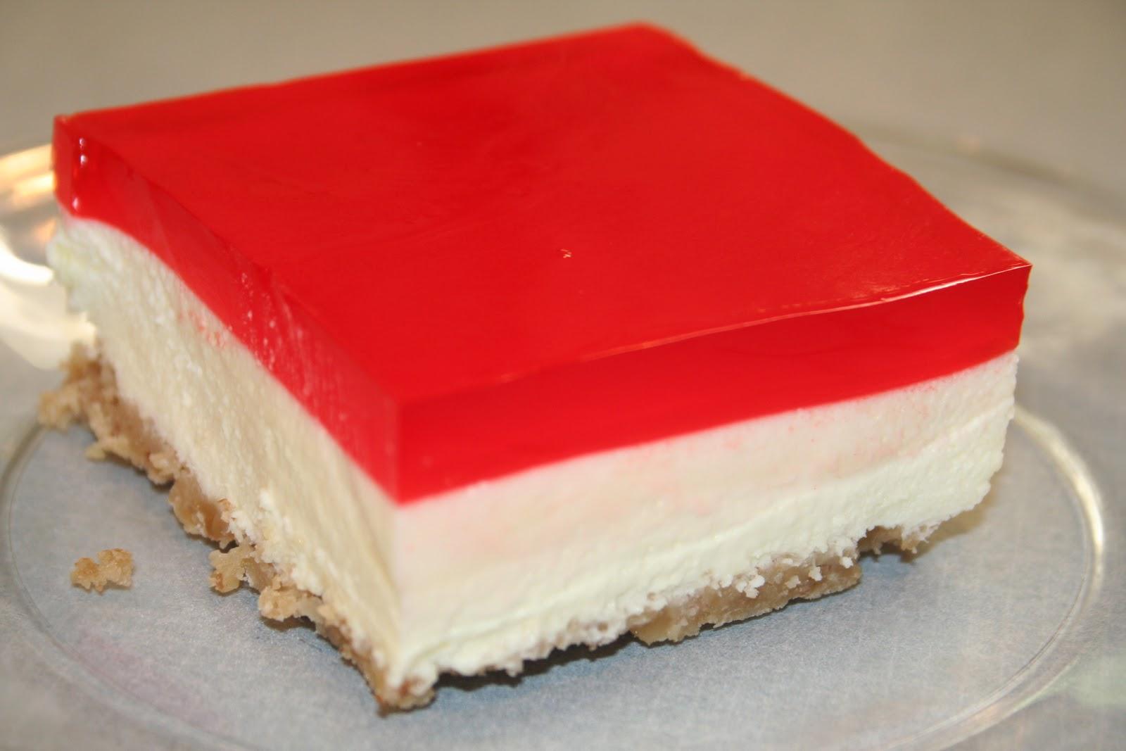 Hk Can Bake Jello Cheesecake Squares