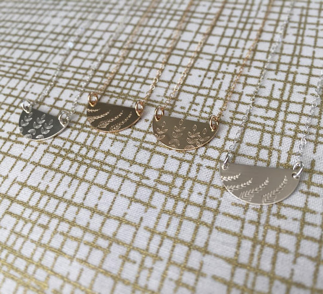 Minimalistic metal stamped jewelry by Meghann Elyse on Etsy - necklace