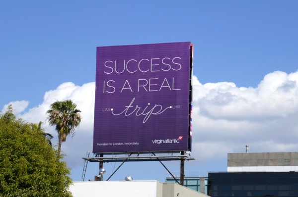 Success real trip Virgin Atlantic billboard