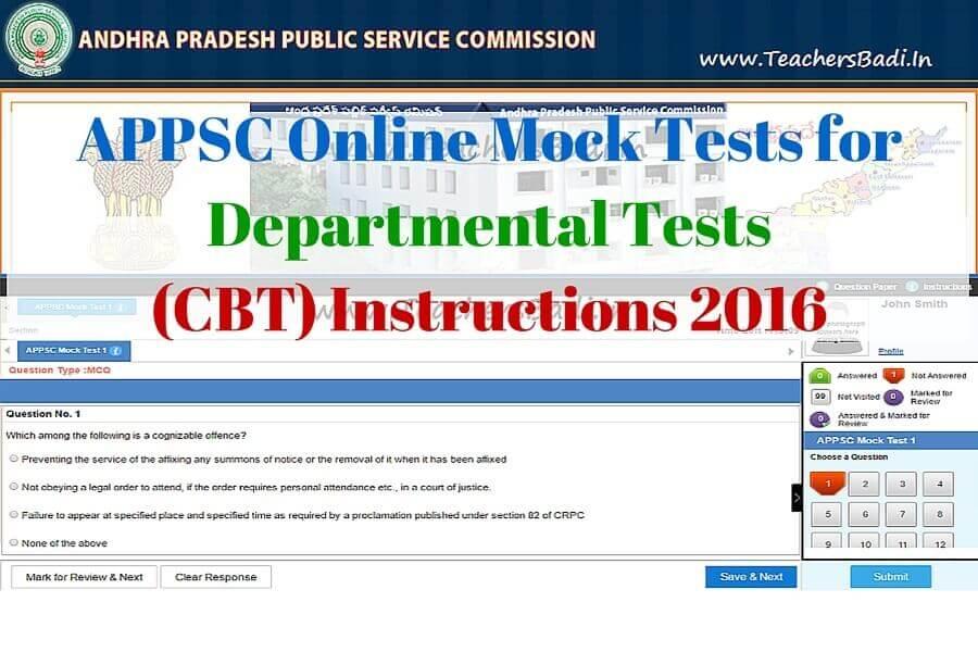 Appsc Online Mock Tests For Departmental Testscomputer Based Test