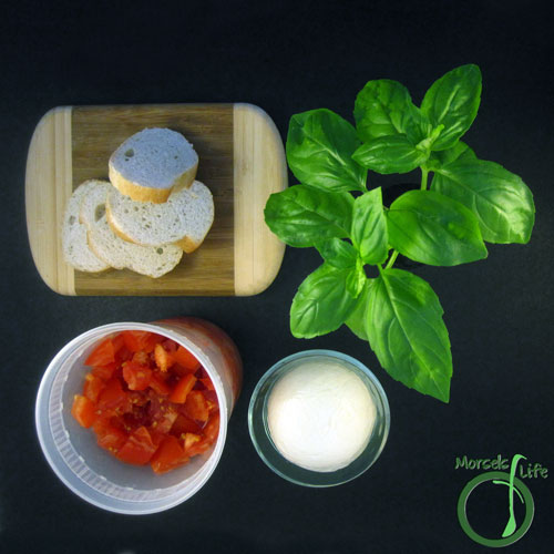 Morsels of Life - Caprese Crostini Step 1 - Gather all materials.