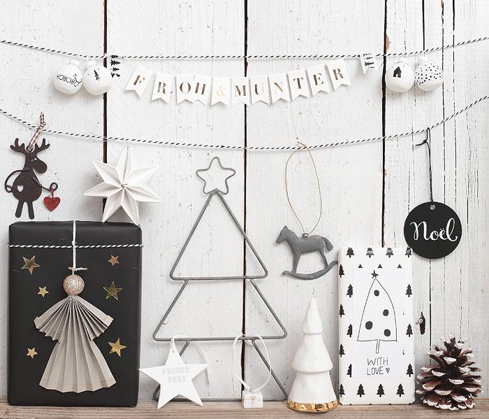 Geschenkeverpackung mit Weihnachtsdeko + Printable ediths Deko Weihnachten Geschenke Räder Geschenkanhänger