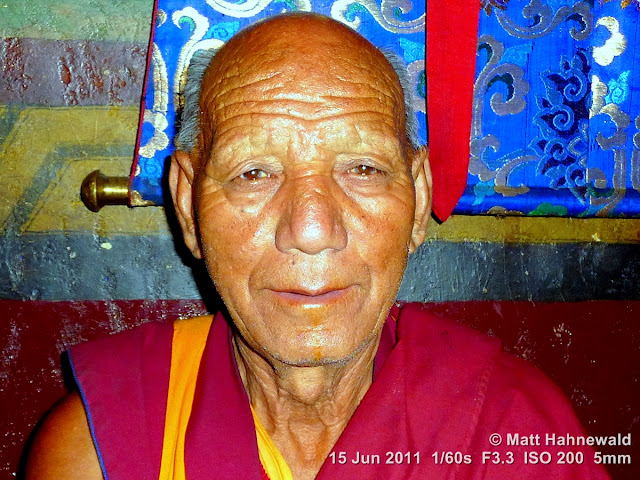 people, street portrait, headshot, old Tibetan Buddhist monk, Tibetan Buddhism, Phyang Gompa monastery, Leh, Ladakh, Northern India, Facing the World, © Matt Hahnewald
