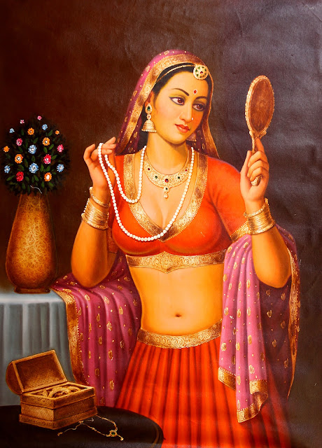 Vintage Paintings of Beautiful Woman's 29