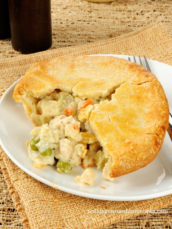 Individual Homemade Chicken Pot Pies from Walking on Sunshine Recipes