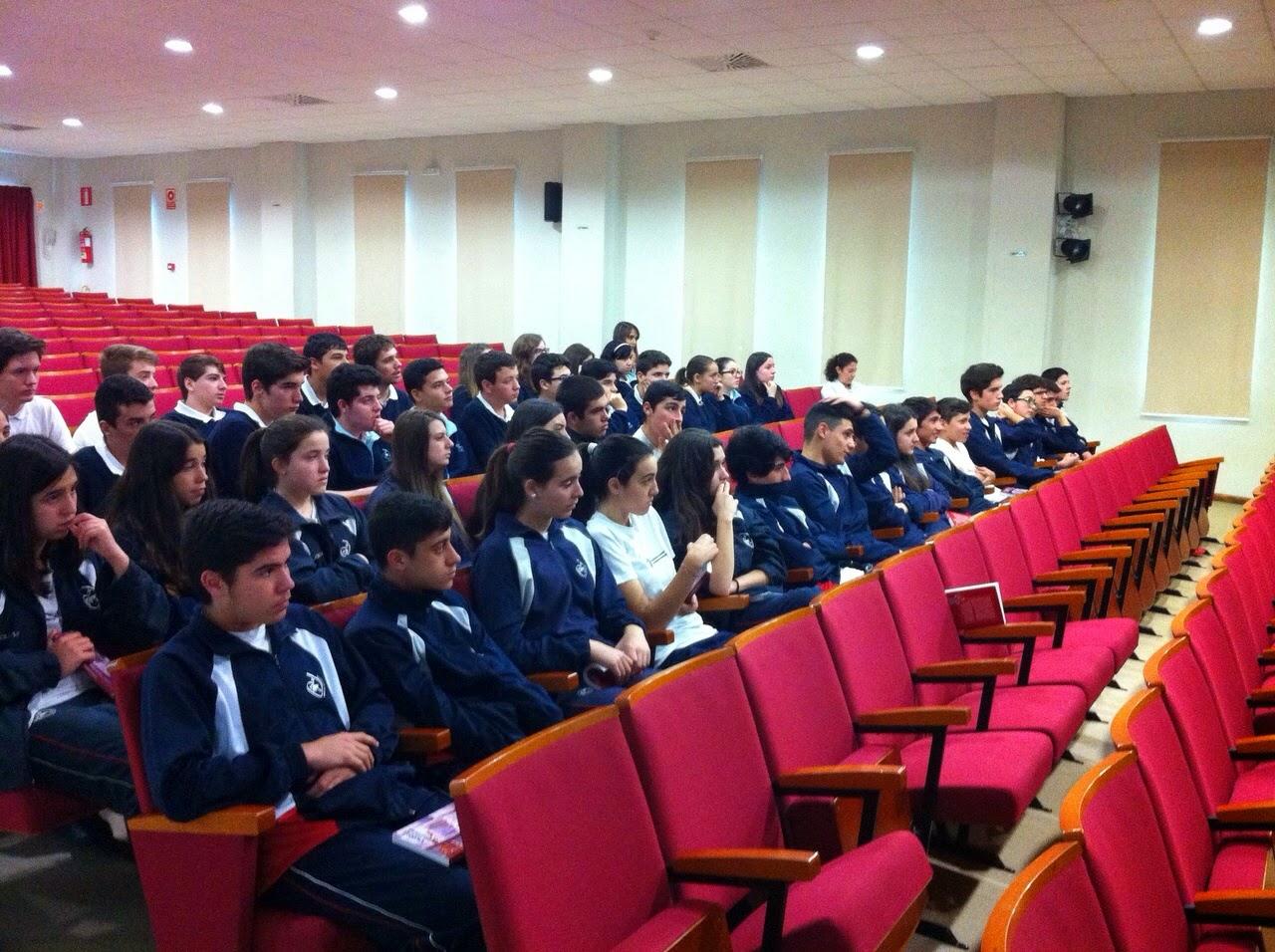 Alumnos de 3º ESO durante la charla con Andrea Maceiras