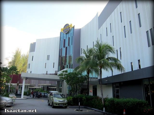 A shot from the road outside Hard Rock Hotel Penang