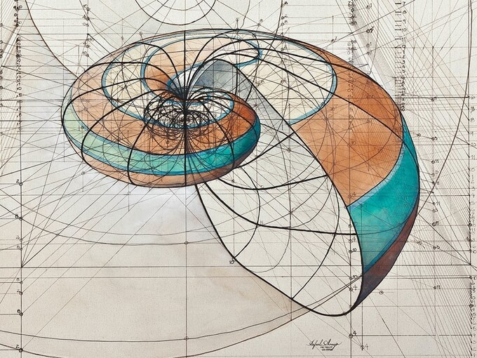 Fantastic Coloring Book Celebrates The Mathematical Beauty of Nature's Creations With Hand-Drawn Golden Ratio Illustrations