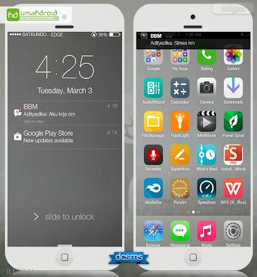 Membuat Tampilan Android Seperti Iphone