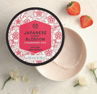 The Body Shop's addictively silky-soft Japanese Cherry Blossom Strawberry Kiss Body Cream