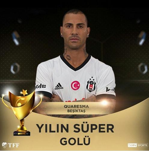 acafd29873 O golo de trivela marcado por Quaresma contra o Fenerbache foi eleito o  melhor da liga turca em 2017 2018