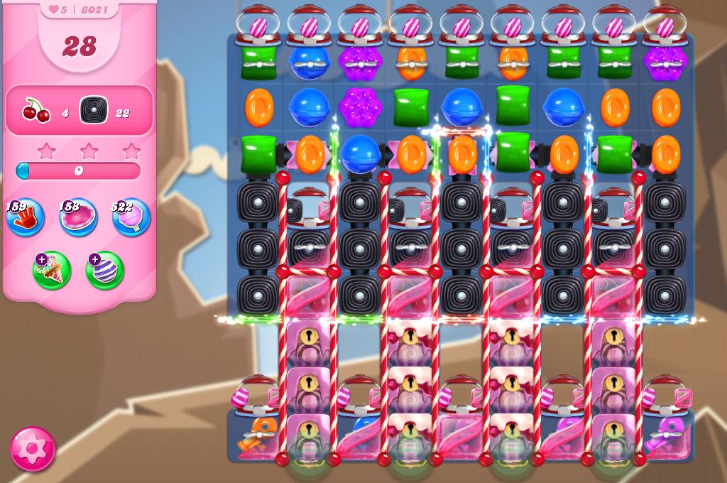 Candy Crush Saga level 6021