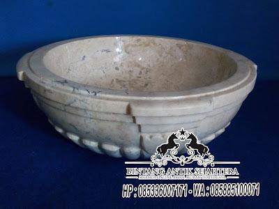 Wastafel Marmer Surabaya, Wastafel Marmer, Model Wastafel Bulat