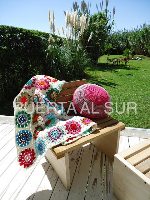 pie de cama crochet - Mantas tejidas para abrigarte y decorar
