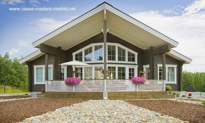 Arquitectura de casas chalets n rdicos construidos de - Casas de madera nordicas ...