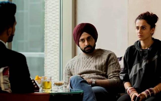Abhishek Bachchan and Taapsee Pannu in Marmarziyaan
