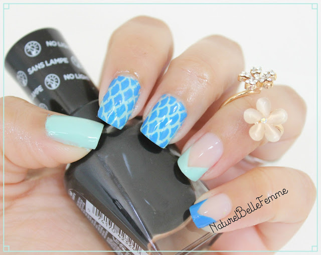 Mermaid nail manicure