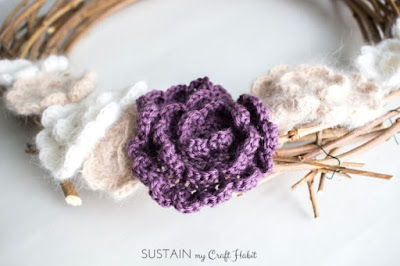 easy flowers for a wreath