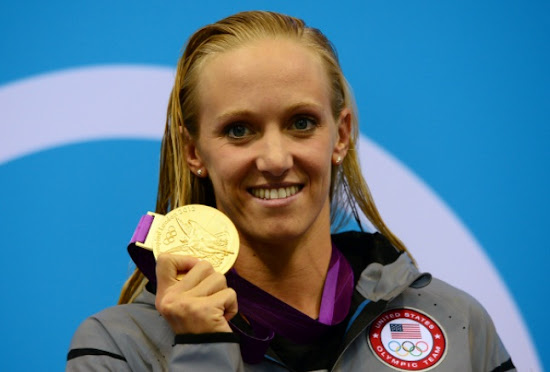 Dana Vollmer with Gold Medal in London Olympic 2012