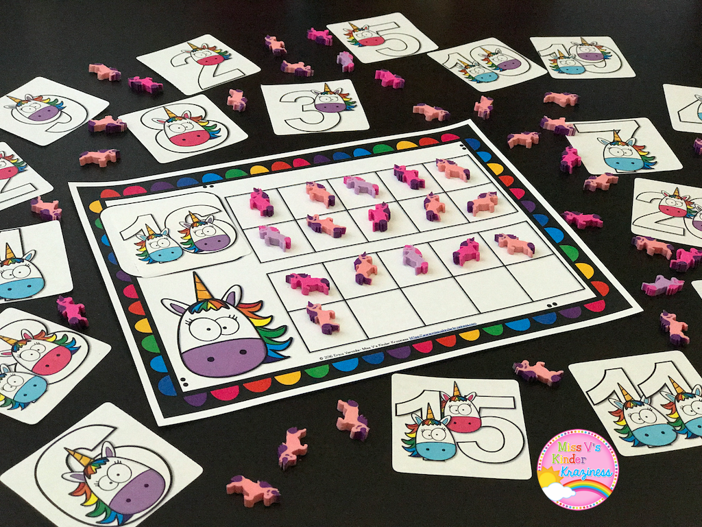 Unicorn Ten Frame And Number Cards Freebie The
