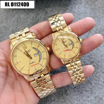 Đồng hồ đeo tay cặp đôi Rolex RL Đ112400