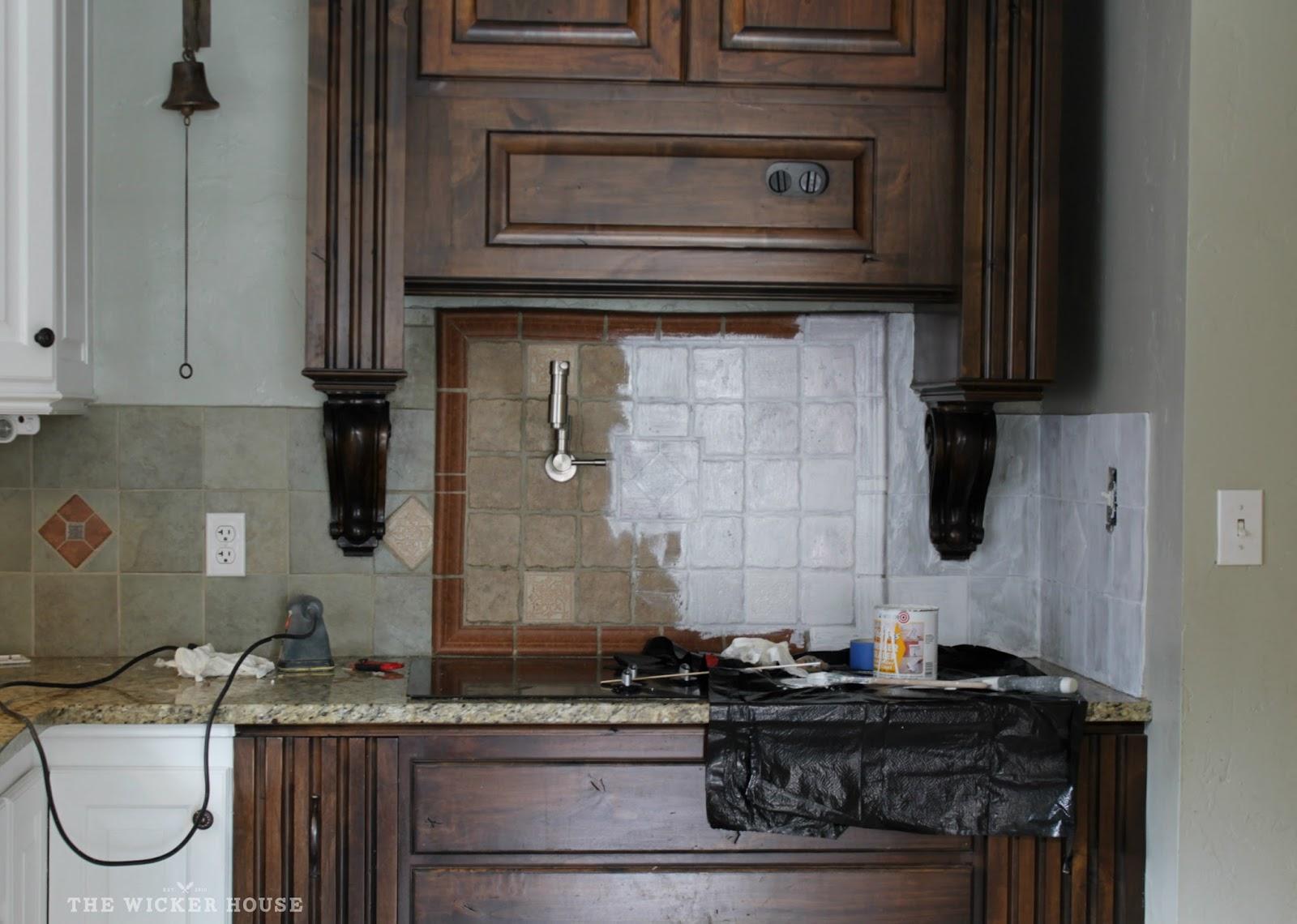 Painting Kitchen Tiles: I Painted Our Kitchen Tile Backsplash!!