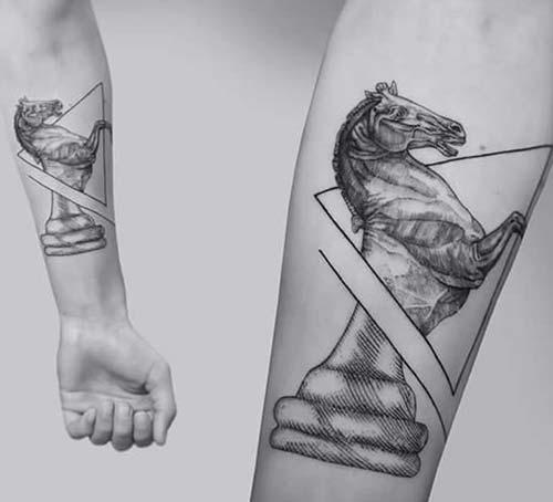 geometrik bilek dövmeleri geometric wrist tattoos 13