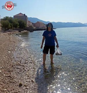 En la playa de Orebic - Croacia