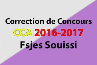 Correction de Concours Master Comptabilité Contrôle Audit (CCA) 2016-2017 - Fsjes Souissi
