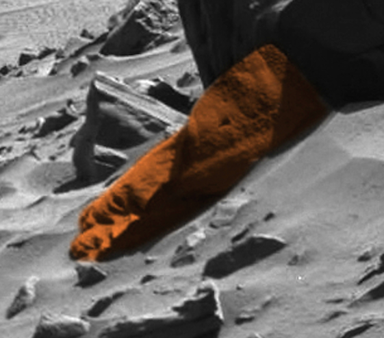 UFO SIGHTINGS DAILY: Alien Face Discovered By Mars Rover