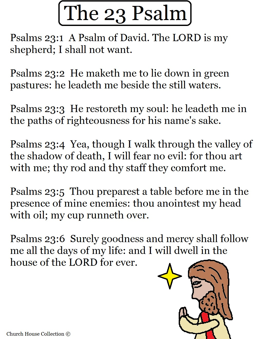 psalm 23 printable coloring pages - church house collection blog psalm 23 the lord is my