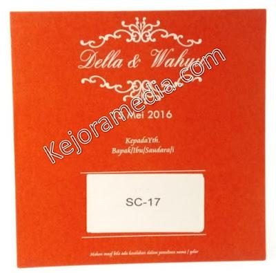 kartu undangan pernikahan warna merah
