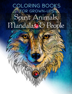 Spirit Animals Mandalas People Coloring Book