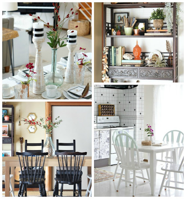Dining room decor tips for renters and small space dwellers. Make your space glam and fabulous!