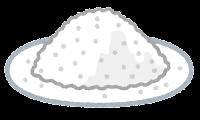 粉のイラスト(白)