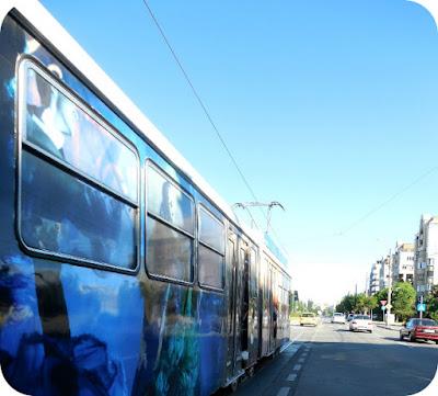tramvaiul vazut din exterior