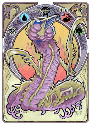 MTG Sliver Queen Altered Art