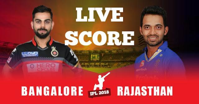 Video Highlights IPL 2018 Match 11 RCB vs RR Live Score and Full Scorecard