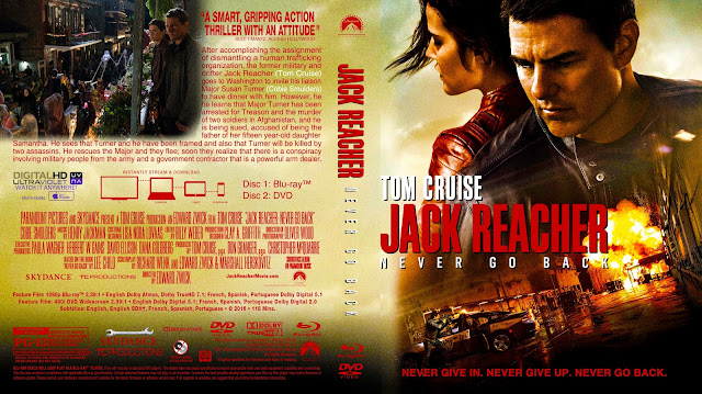 Jack Reacher Never Go Back Bluray Cover