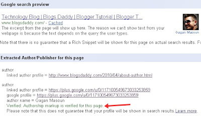 Test Your Profile With Rich Snippets Testing Tool
