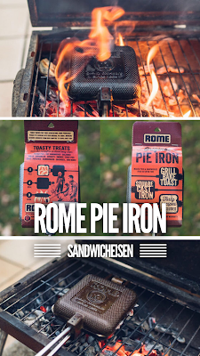 Gear of the Week #GOTW KW 45 | ROME Pie Iron – Sandwicheisen | Sandwiches am Lagerfeuer | Waffeleisen aus Gusseisen | ROME Industries