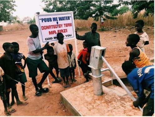Mr Eazi Builds Borehole For A Village To Promote New Single 'Pour Me Water'