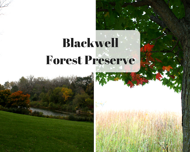 Hiking in Blackwell Forest Preserve in Warrenville, Illinois