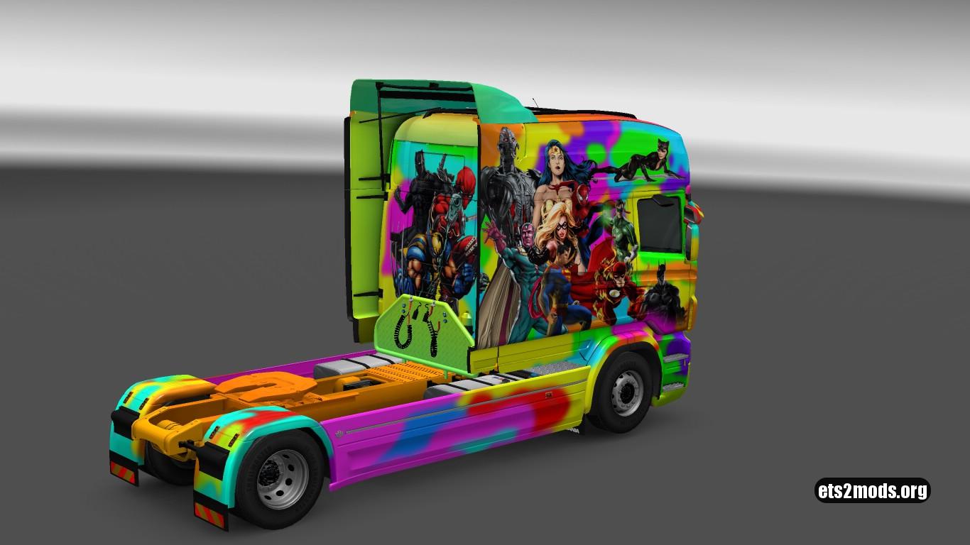 Superhero Skin for Scania RJL Longline
