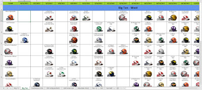 college football helmet schedule 2017