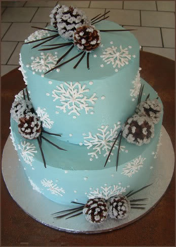 The Paisley Press Icy Blue Winter Wedding Cakes