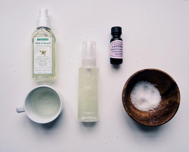 spray z solą morską i aloesem do włosów